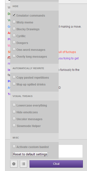 Twitch Chat Filter By Jpgohlke